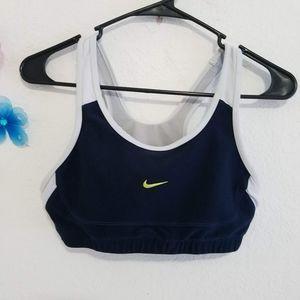 Nike Dri Fit Sport Bra Blue Gray Sz S (4-6)